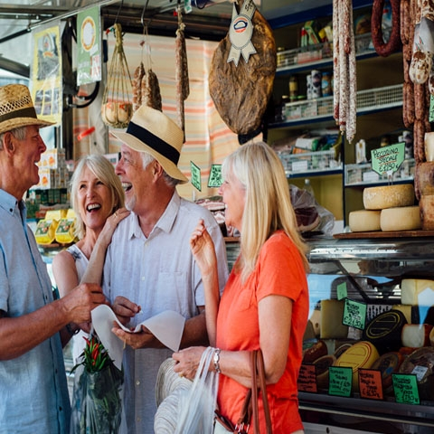 Shopping in a Tuscan Market