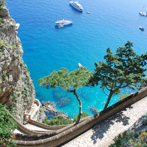 Aerial View of the Sea Capri