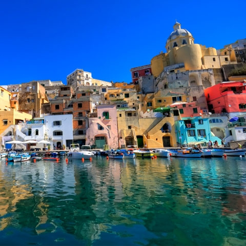 Procida from the Sea
