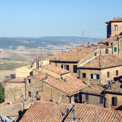 Terracotta Roofs in Volterra