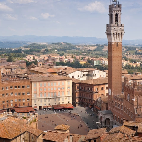 Aerial View of Siena