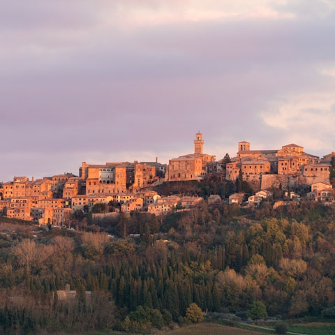 Sunset over Montepulciano