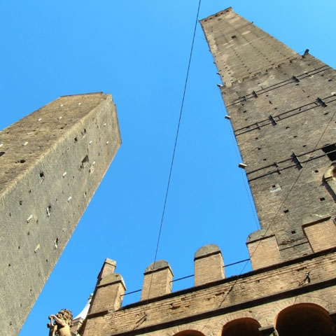 Garisenda and Asinelli Towers Bologna