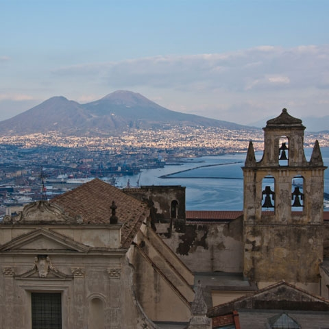Naples Bay with Mount Vesuvius