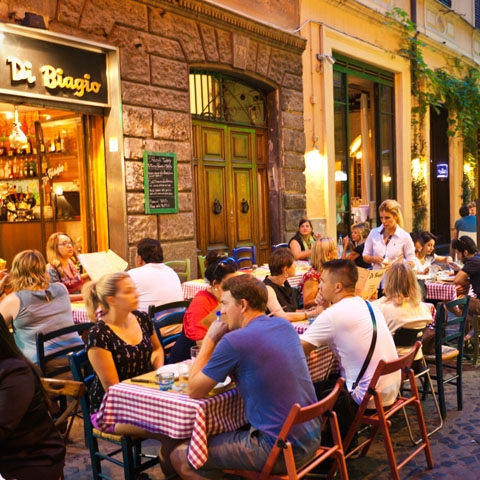 Street Tables at a Roman Restaurant