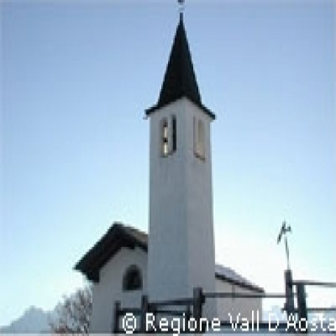 Aosta Valley Italy mountain church