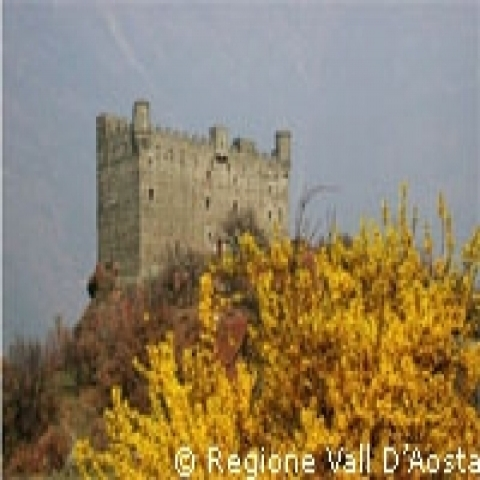 Aosta Valley Italy Ussel castle