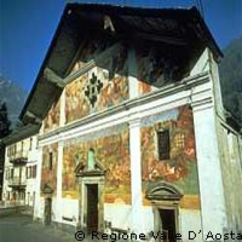 Aosta Valley Italy frescoed church