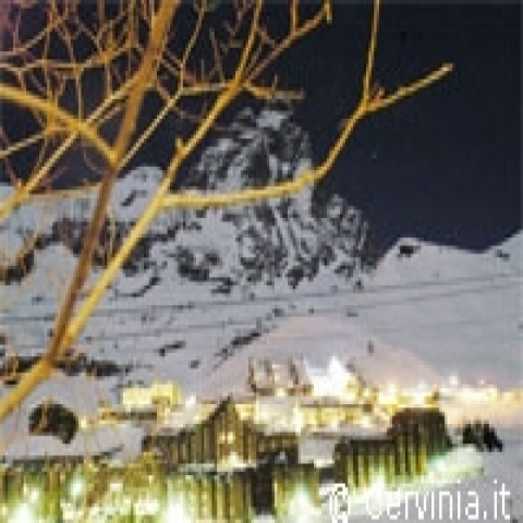 Aosta Valley Italy Cervinia by night
