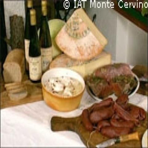 Aosta Italy typical cheese and food