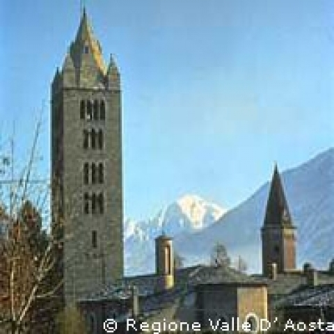 Aosta Italy Saint Orso bell tower
