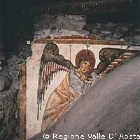 Aosta Italy angel fresco