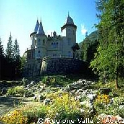 Savoia Castle Aosta Italy Gressoney