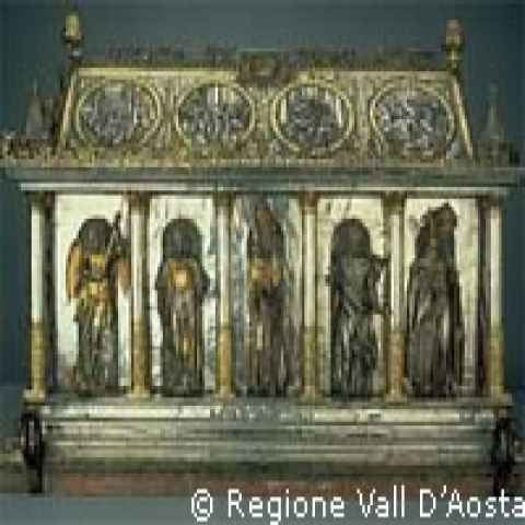 Aosta Italy Cathedral museum reliquary