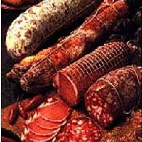 Typical salami from Calabria Italy