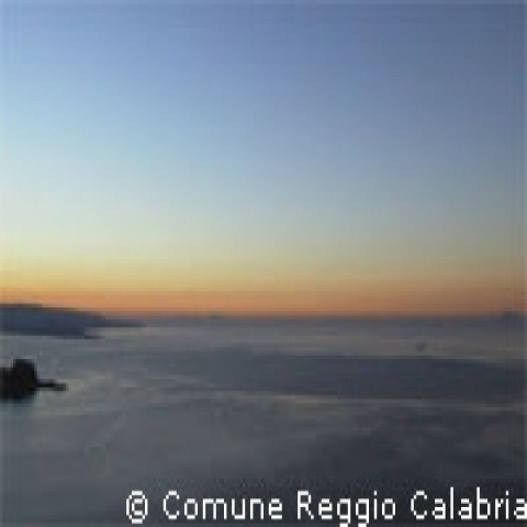 Sunrise on sea Calabria Italy