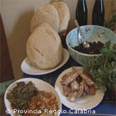Typical food Reggio Calabria Italy