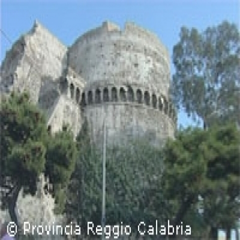 Aragonese Castle tower in Reggio Calabria Italy