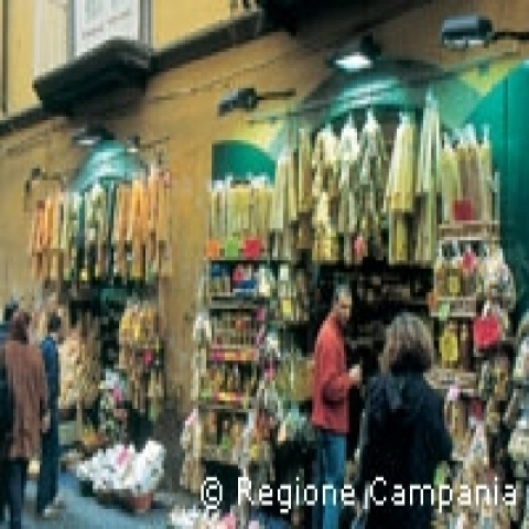 Typical shop Campania Italy