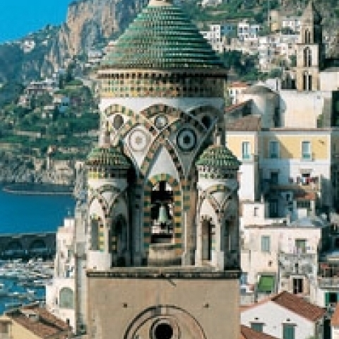 Cathedral bell tower Amalfi Campania Italy