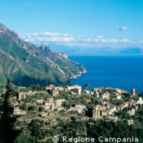 Amalfi Coast overview Italy