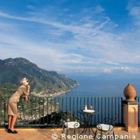 Terrace of Ravello Amalfi Coast Italy