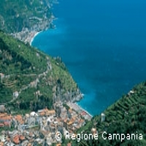 Amalfi coast Blue Sea Italy