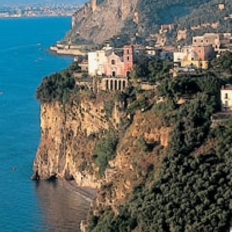 Rocky cliff on Sorrento Italy