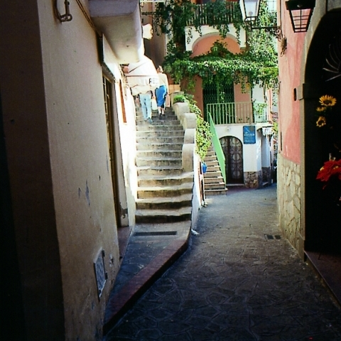 Typical alley Sorrento Italy