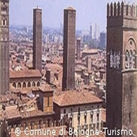 Bologna overview Italy