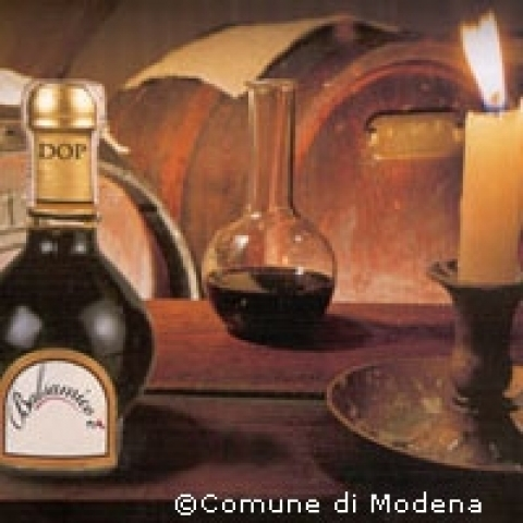 Typical Balsamic Vinegar Modena Italy