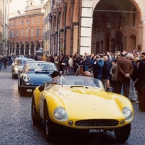 Historical cars in Modena Italy