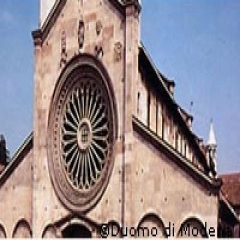 Cathedral Rose window Modena Italy