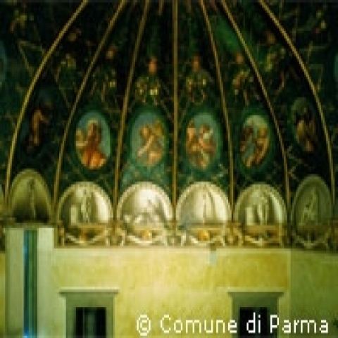 Detail of Correggio's Dome Parma Italy