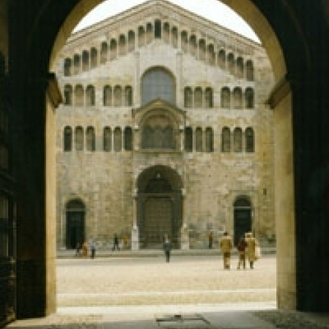 Glimpse on Parma Cathedral Italy