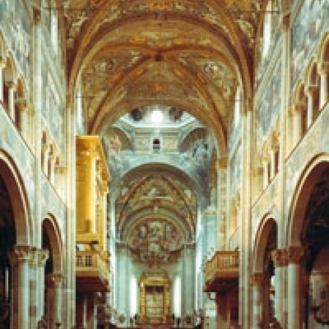 Parma Cathedral interior Italy