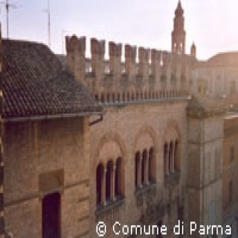 Medieval architecture in Parma Italy