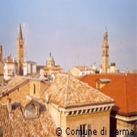Roofs of Parma Italy