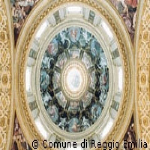 San Pietro church dome Reggio Emilia Italy