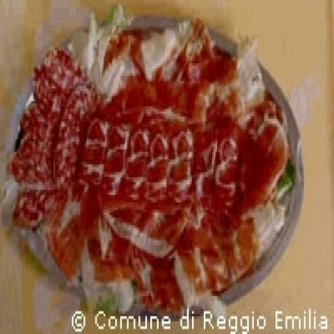 Typical cold cuts from Reggio Emilia Italy