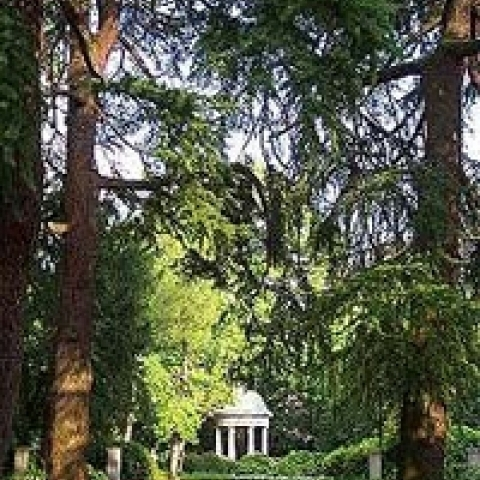 Temple in City Park Gorizia Italy
