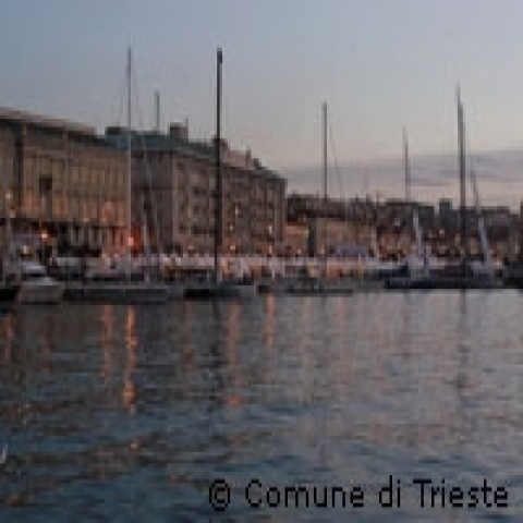 Harbor in Trieste Italy