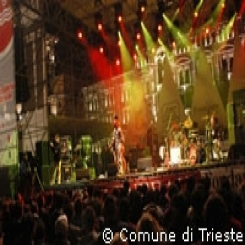 Summer outdoor concert in Trieste Italy