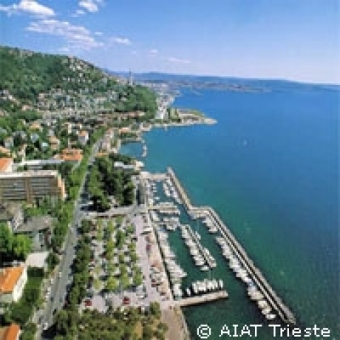 Coastline of Trieste Italy