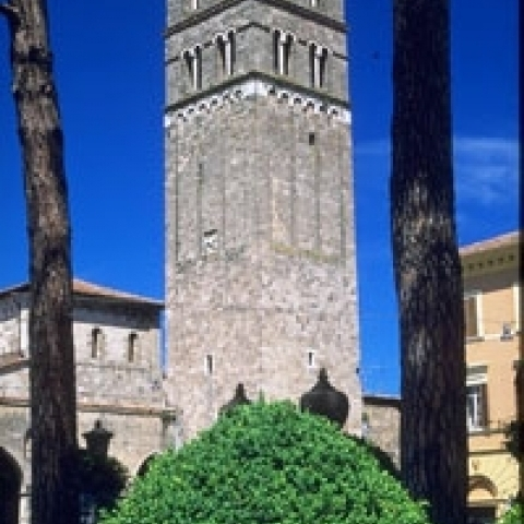 Rieti Cathedral bell tower Lazio Italy