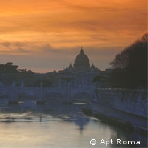 Sunset on Rome Lazio Italy