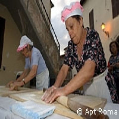 Hand made pasta in Lazio Italy