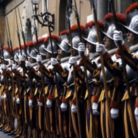 Swiss Guards in Vatican City Lazio Italy
