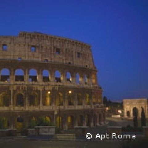 Colosseum by night Rome Italy