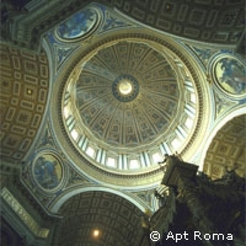 Interior of Saint Peter's Dome Rome Italy